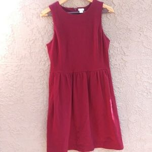 J.Crew Sleeveless Maroon red skater dress